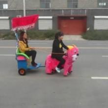 电动动物拉车毛绒动物拉三轮车电动动物三轮车图片