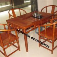 山东非州花梨木茶桌图片
