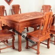 非洲花梨木餐桌图片