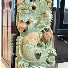 供应天然玉石年年有余 装饰工艺品天然玉石年年有余 天然玉石质感