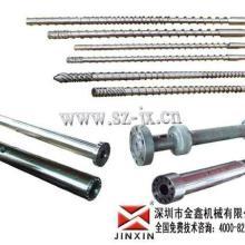 宇部塑机螺杆,100Tφ35塑机螺杆炮筒图片