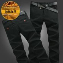 供应新款男士加厚加绒牛仔裤加绒单款批发
