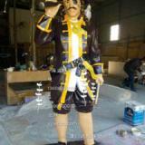供应用于摆饰的玻璃钢海盗雕塑,海盗人物雕塑,海盗雕塑现货,