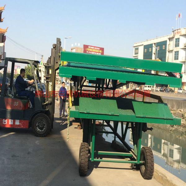供应广东惠州卸柜叉车平台3吨位批发卸柜叉车平台三良机械