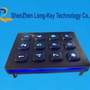 金属背光键盘LED发光键盘图片