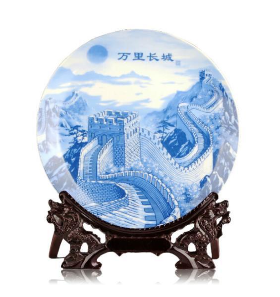 供应手绘青花瓷大瓷盘