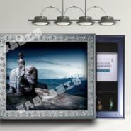 冰晶画技术嵌入式保险柜装饰冰晶画图片