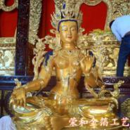 供应西藏寺庙佛像贴金,西藏贴金施工厂家