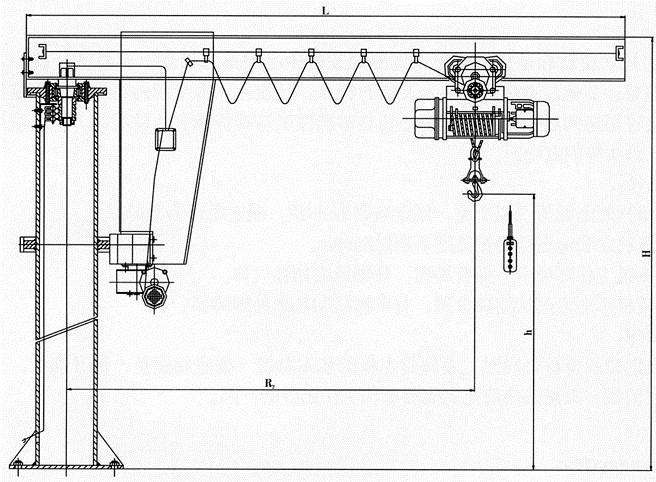 安徽供应BZ型定柱式旋臂起重机厂家