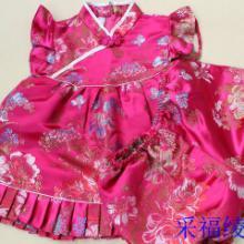 供应儿童唐装套装批发改良宝宝童礼服采福绫中式旗袍