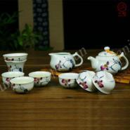 高档创意定窑亚光茶具套装图片