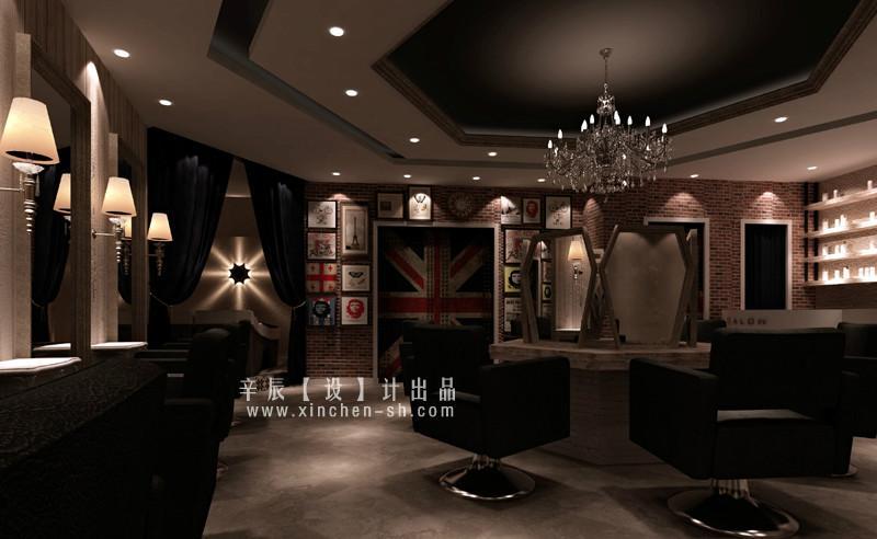 【理发店设计】【理发店装修公司】【上海美发店设计】图片
