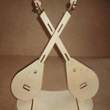 供应3D立体拼装小提琴木制模型玩具,儿童益智智力拼插玩具批发