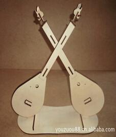 3D立体拼装小提琴木制模型玩具图片