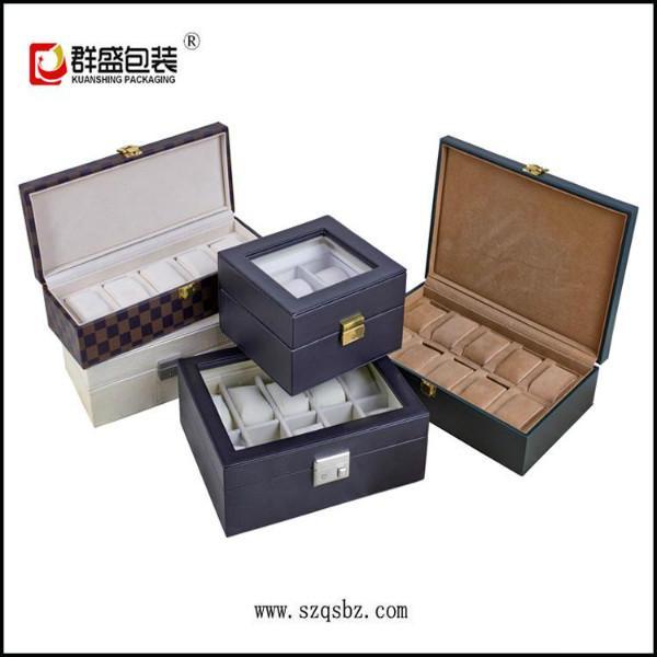 供应深圳订做皮革手表盒子