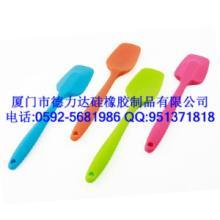 供应环保食品级硅胶刮刀用来制作水果沙拉,奶油奶糕厦门德力达硅橡胶