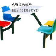 供应2人位快餐桌椅图片