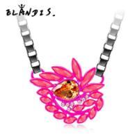 欧美水晶花朵项链锁骨链