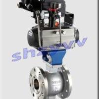供应VQ647H法兰V型气动球阀,V型球阀,不锈钢球阀,气动球阀,V型调节阀
