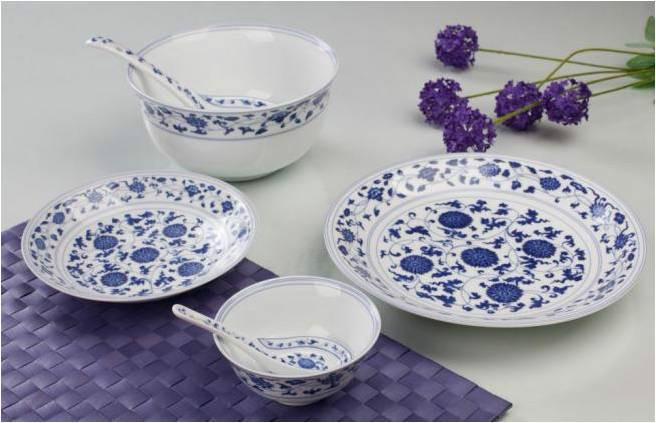 青花瓷碗一套_青花瓷餐具