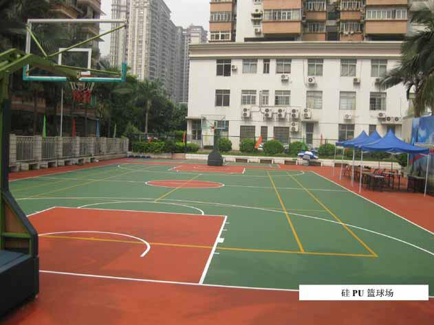 供应东莞篮球场表面漆、室外篮球场地面材料、运动体育馆油漆