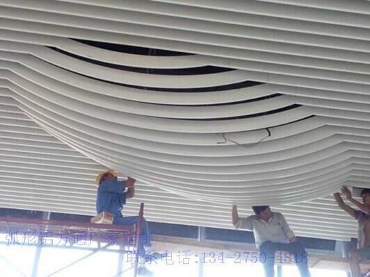 专业定制铝方通厂家 波浪型铝方通价格 铝单板