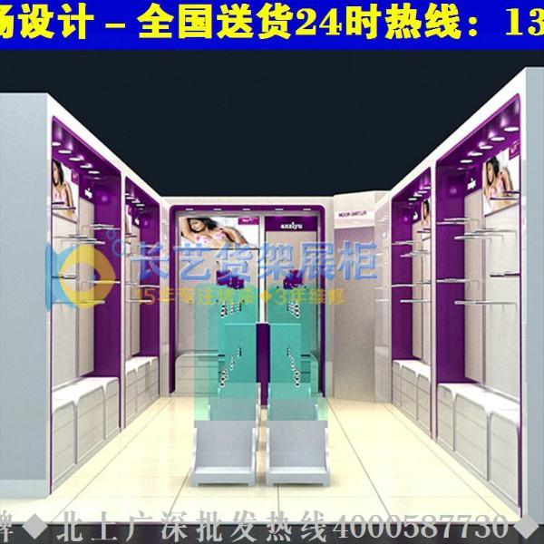 展示柜大全时尚内衣店装修效果图货架展示柜0115