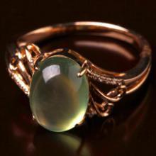 供应葡萄石戒指(镶18K金)
