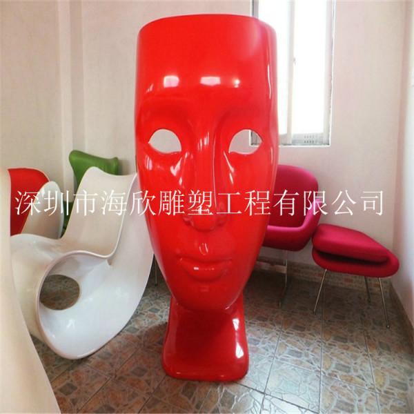 玻璃钢商场休闲桌椅雕塑销售