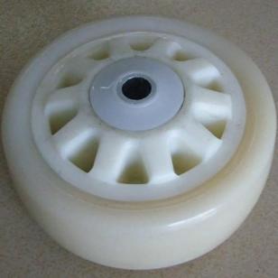 重型尼龙白芯白面通花单轮图片
