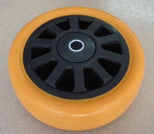 供应重型PU黑芯橙通花单轮厂家批发-重型PU黑芯橙通花单轮厂家批发价格