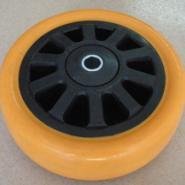 佛山重型PU黑芯橙通花单轮图片
