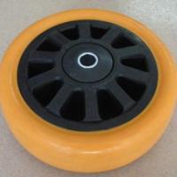 供应佛山重型PU黑芯橙通花单轮-广东佛山重型PU黑芯橙通花单轮厂价直销