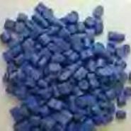 蓝色双壁波纹管专用料PE再生料图片