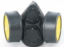 供应HP306双滤盒防毒面具,硅胶防毒面具