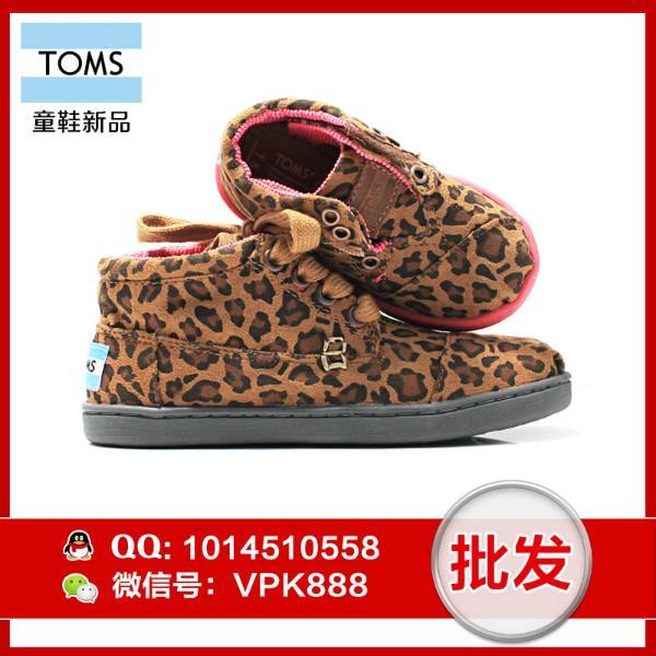 供应toms童鞋 正品豹纹高帮大小女童鞋尺码T5--T11 Y12--Y3