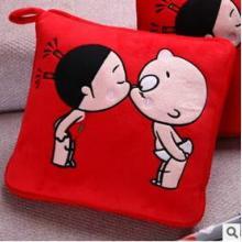 供应老棉祥抱枕厂家创意卡通两用抱枕被绣logo定制批发
