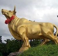 供应河北铸铜华尔街牛价格,铸铜华尔街牛铸造价格