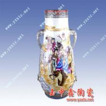 供应粉彩瓷器手绘粉彩花瓶高档粉彩瓷批发
