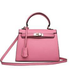 供应2014新款包包欧美街头潮人时尚头层牛皮女士单肩包荔枝纹手提包批发