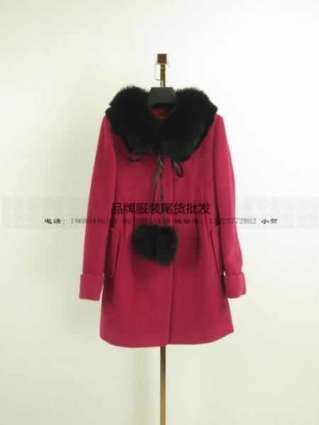 供应羊绒短外套品牌折扣女装折扣批发