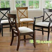 供应实木扶手餐椅定做深圳厂家专业定制餐厅家具图片