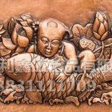 供应童子抱鱼浮雕  5米壁画浮雕   地雕铸造厂   深圳直销厂家图片