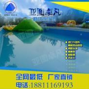 移动水上游乐园设备支架泳池充气图片