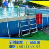 供应大型户外儿童水上玩具充气支架泳池可移动