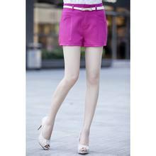 供应春装纯色拼接肌理休闲短裤