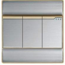 供应墙壁开关插座不锈钢拉丝三位开关