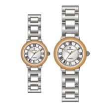 供应品牌时装表韩版商务机械女表钢带防水石英情侣时装奢华个性表