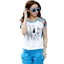 供应哪里有最新款韩版女装短袖批发零售夏季女装运动休闲套装个性时尚韩版图片