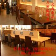 曲木快餐椅价格/曲木连体快餐桌椅图片